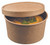 Soup bowl round kraft with kraft lid 450ml/15.2oz (Case of 250 pc)