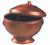 Eskoffie mini lion head tureen with lid copper-black 60ml / 2oz (Case of 120 pc)