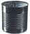 Tin Can with lid 7.4 oz PP Plastic Black (Case of 100 pc)