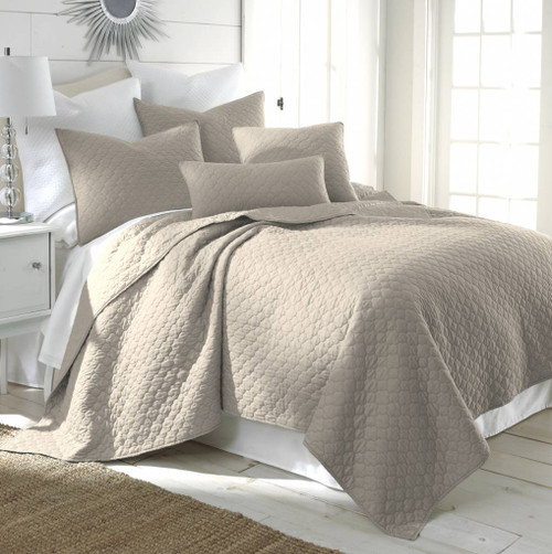 Bordeaux Quilt Set Taupe - Full/Queen