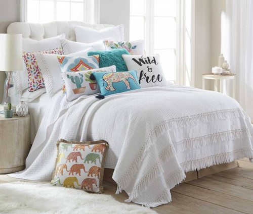 Casita Quilt Set White - Full/Queen