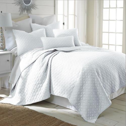 Bordeaux Quilt Set White - Full/Queen