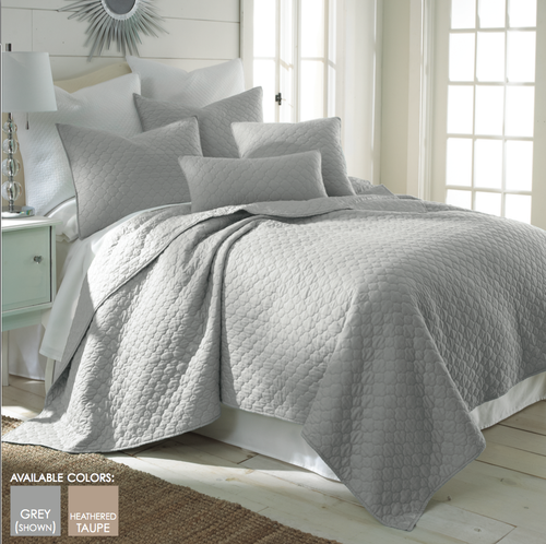 Bordeaux Quilt Set Grey - Full/Queen