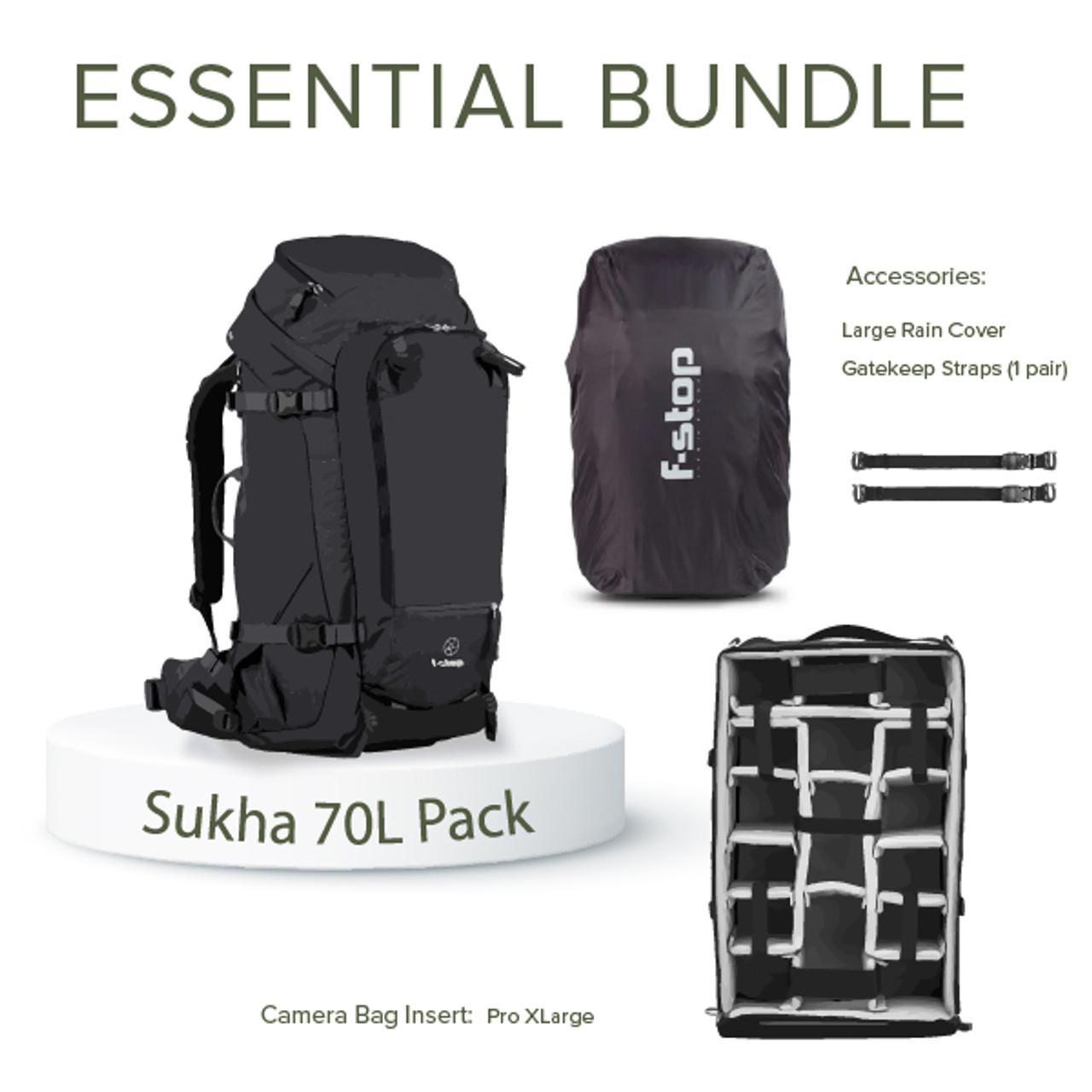 SUKHA - 70 Liter Backpack Essentials Bundle