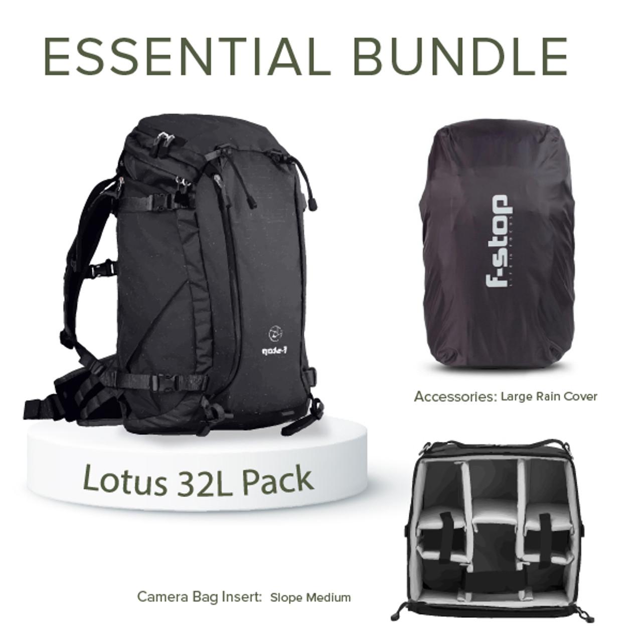 Lotus 32 Liter Backpack Essentials Bundle