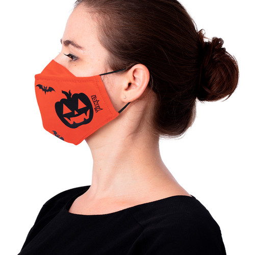 Jack O'Lantern Halloween Face Masks - Adult