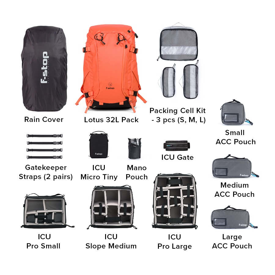 Lotus 32 Liter Backpack Master Bundle