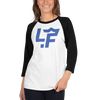 Blue LF 3/4 sleeve raglan shirt
