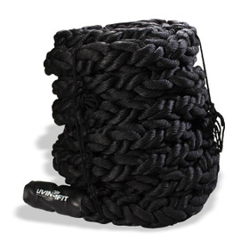 battle rope, canvas covered battle rope, braided battle rope