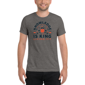 Knowledge is King Colored Short sleeve t-shirt