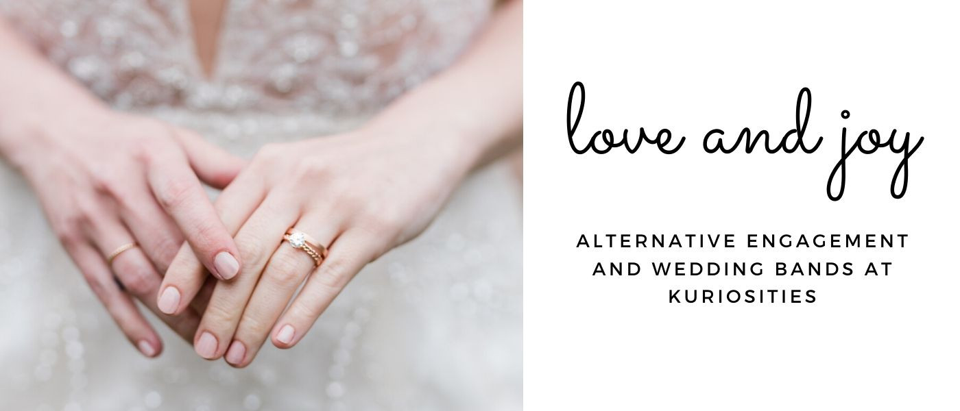 alternative engagement rings and wedding bands