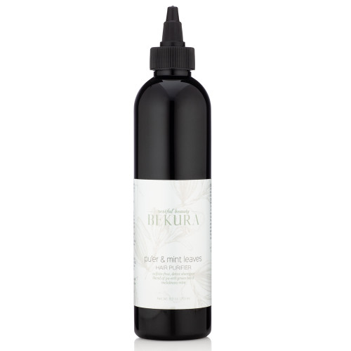 sulfate-free, detox shampoo blend of pu'erh green tea & melaleuca mint