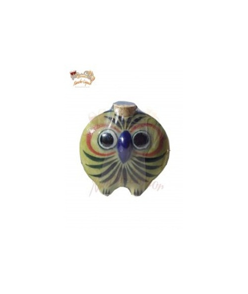 Calera Ceramice Owl Face Bottle Tequila Extra Anejo 50mL