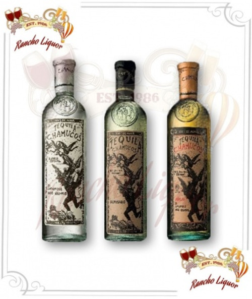 Chamucos Blanco, Reposado, Anejo Tequila 100% de Agave 3Pack Combo 750mL