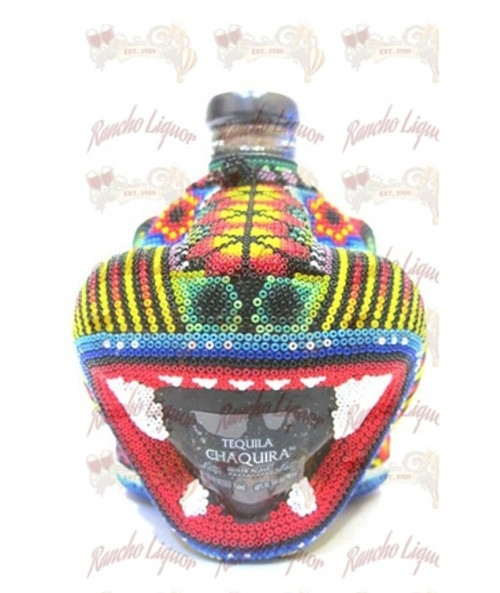 Chaquira Beaded Jaguar Extra Anejo 750mL