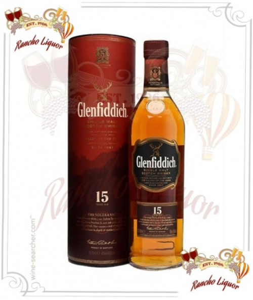 Glenfiddich 15 Year Single Malt Scotch Whiskey