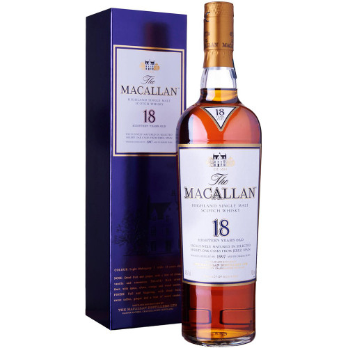 The Macallan 18 Year Old Sherry Oak Single Malt Scotch Whisky