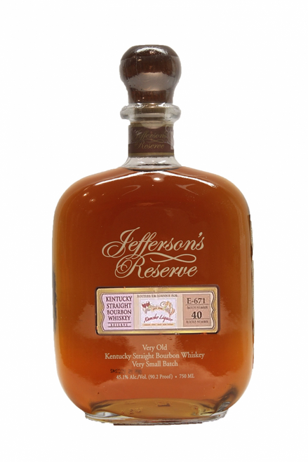 Jefferson's Reserve Very Old Straight Bourbon Whiskey exclusively Bottled for Rancho Liquor