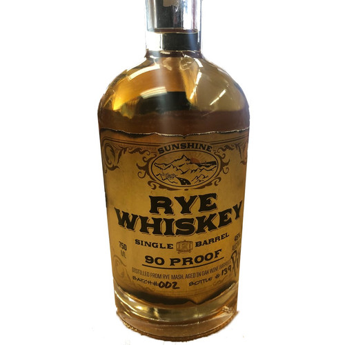 San Diego Sunshine Single Barrel Straight Rye Whiskey