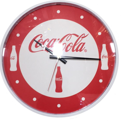 "The Coca Cola Company Official 14"" 3 Bottle Clock"