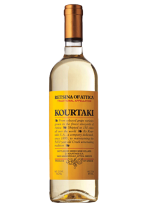 Kourtaki Retsina of Attiki 750mL