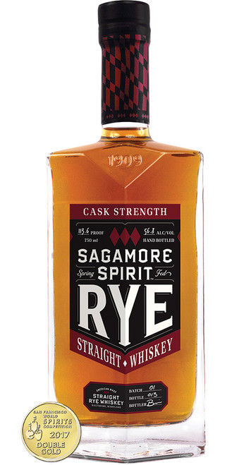 Sagamore Spirit Cask Strength Rye Whiskey 750mL