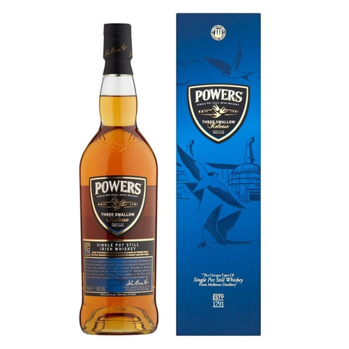 Powers Three Swallow Release Single Pot Still Irish Whiskey 750mL