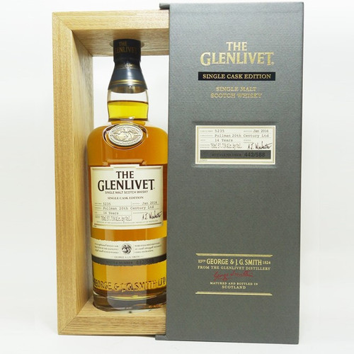 The Glenlivet Single Cask Edition Scotch Whisky 14 Years Pullman 20th Century 750mL