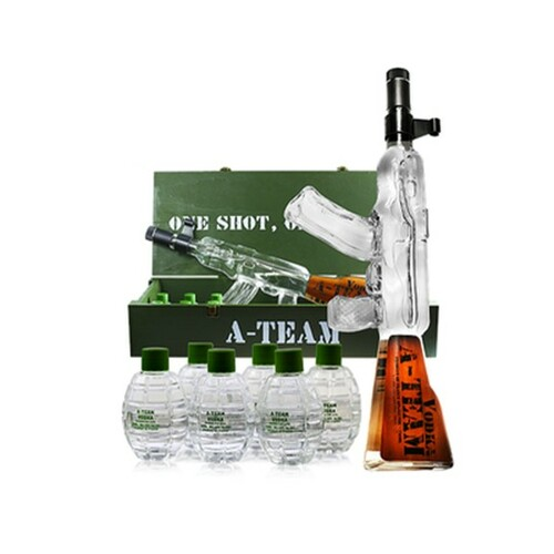 A-Team SWAT Vodka Box with Grenades 750mL