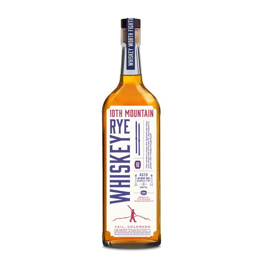 10th Mountain Rye Whiskey 750mL