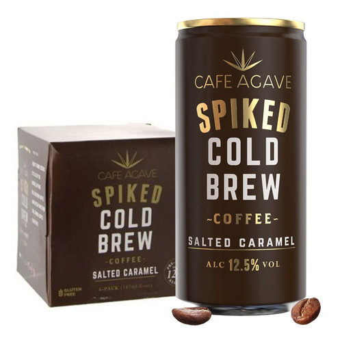 Cafe Agave Spiked Cold Brew Coffee Salted Caramel 4 Pack