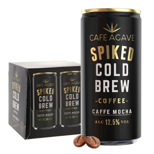 Cafe Agave Spiked Cold Brew Coffee Cafe Mocha 4 Pack