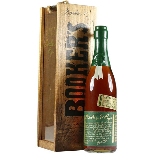 Booker's 13 Year Old Rye Whiskey Limited Edition Bottling with Box 750mL