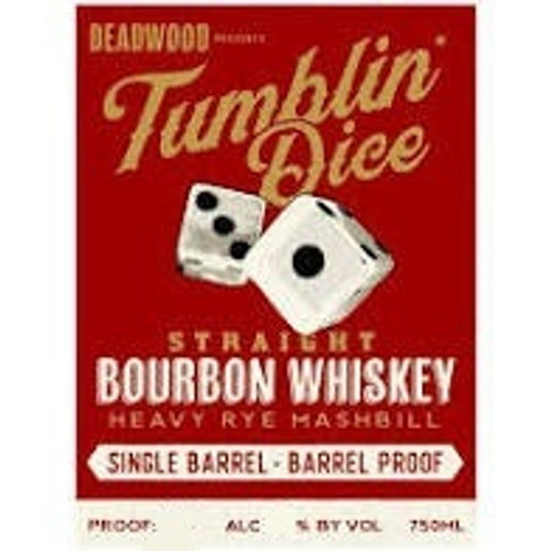 Tumblin' Dice Aged 4 Years Single Barrel Na 23 Heavy Rye Bourbon 109.7 Proof / 750mL