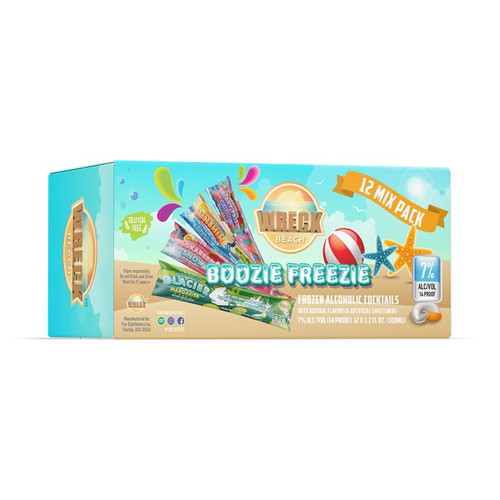 Boozie Freezie Frozen Alcoholic Cocktails - 12 Pack
