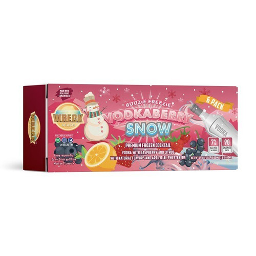 Boozie Freezie VodkaBerry Snow 6 Pack