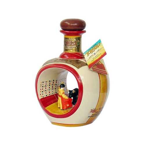 Torero Tequila Anejo Hand Painted Ceramic Bottle 750mL