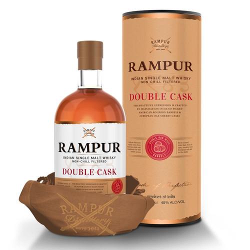 Rampur Double Cask Single Malt Whisky 750mL