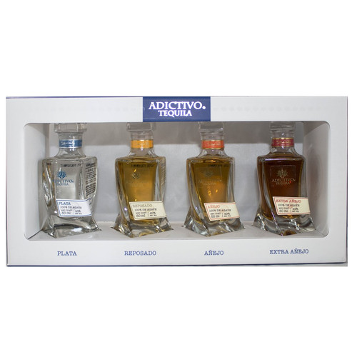 Adictivo Tequila Mini Bottle Collection - set of 4 - 50mL