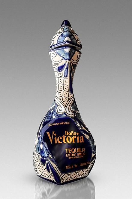 Dona Victoria Extra Añejo Tequila 750mL - Blue