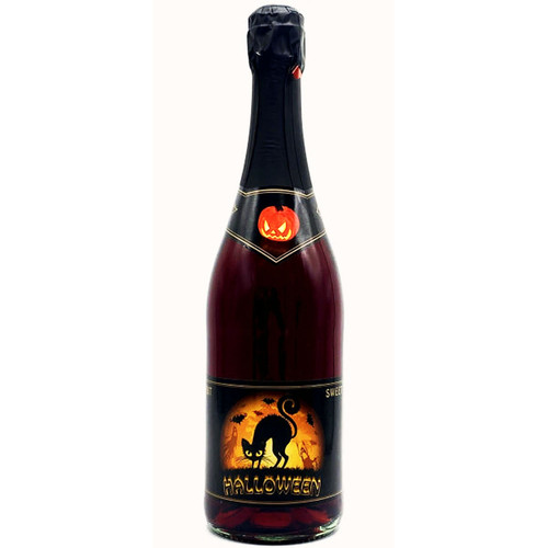 Halloween Black Cat Sweet Red Sparkling Wine 750mL