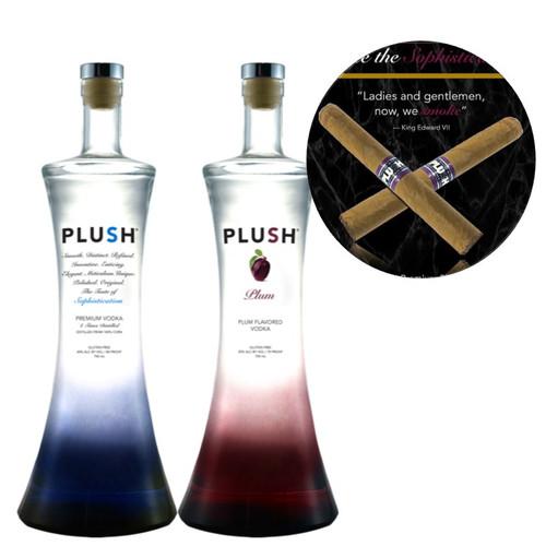 PLUSH Vodka Expression Combo Pack With Plush Plum Vodka Cigar
