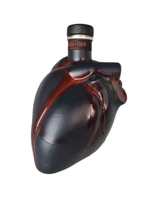 Sangre De Vida Corazón Reposado Heart Shaped Tequila 750ml