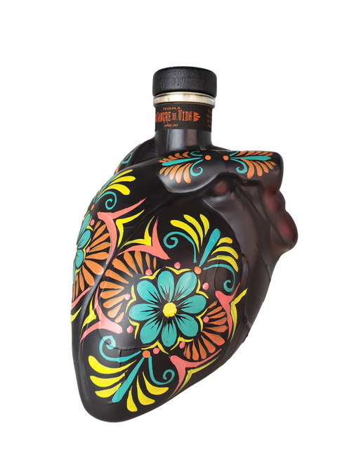 Sangre De Vida Corazón Anejo Heart Shaped Tequila 750ml.png