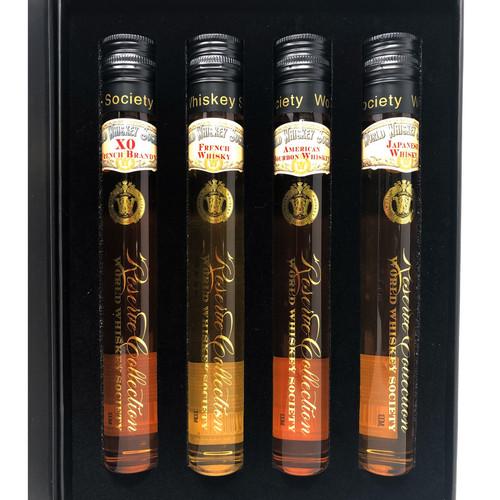 World Whiskey Society 4 Piece Gift Set 100mL Bottles
