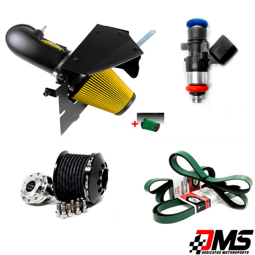"""Airaid, Green Filter, 2.45"""" Pulley combo and FIC 1000cc Fuel Injectors"""