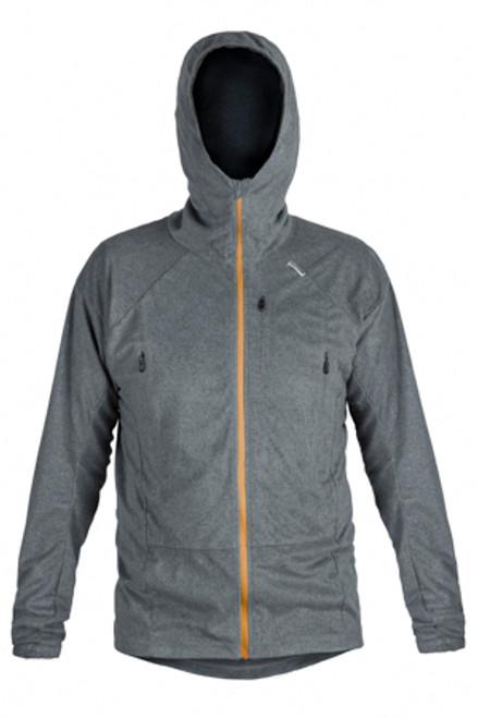 Men's Enduro Fleece: Steel Marl Gold Zips