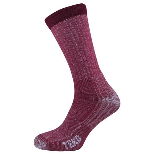 Teko Women's Merino Light Hiking Sock: Cranberry