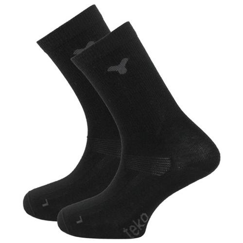Teko Merino Liner Socks: Black