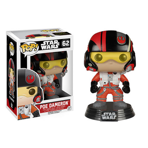 Funko Pop 62 Star Wars The Force Awakens Poe Dameron Vinyl Bobble-Head Figure (FNK6222)